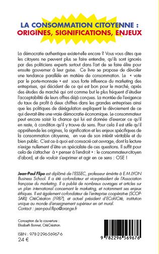 4eme La consommation citoyenne : origines, significations, enjeux