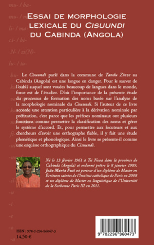 4eme Essai de morphologie lexicale du Cisuundi du Cabinda (Angola)