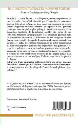 4eme De la question stratégique en philosophie politique
