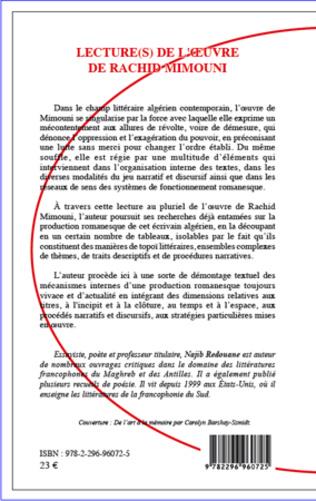 4eme Lecture(s) de l'oeuvre de Rachid Mimouni