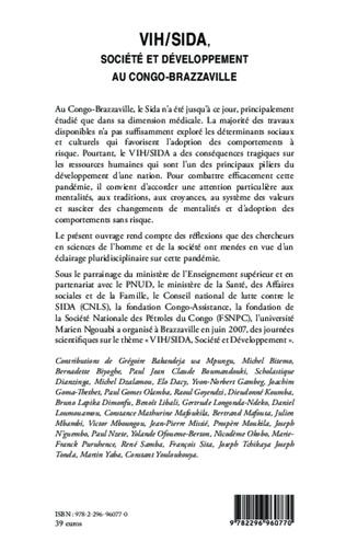 4eme VIH/SIDA, société et développement au Congo-Brazzaville