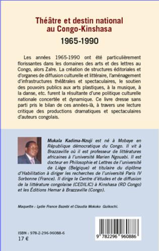 4eme Théâtre et destin national au Congo-Kinshasa