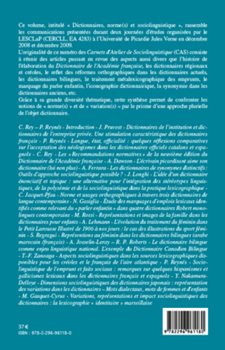4eme Dictionnaires, norme(s) et sociolinguistique