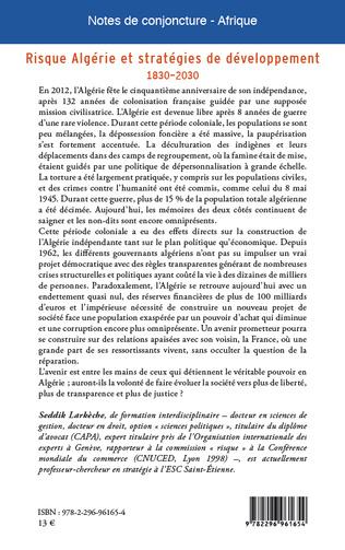 4eme Risque Algérie et stratégies de développement