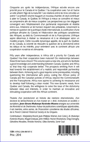 4eme Les commencements de la coopération internationale Canada-Afrique.