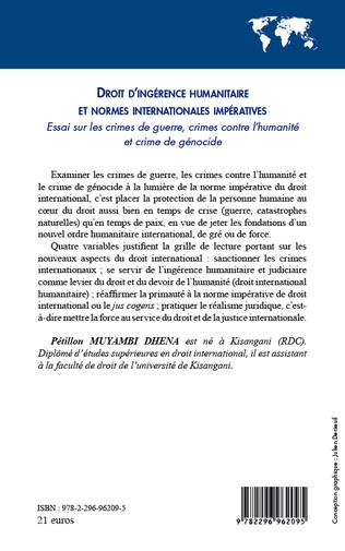 4eme Droit d'ingérence humanitaire et normes internationales impératives