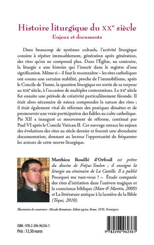 4eme Histoire liturgique du XXe siècle