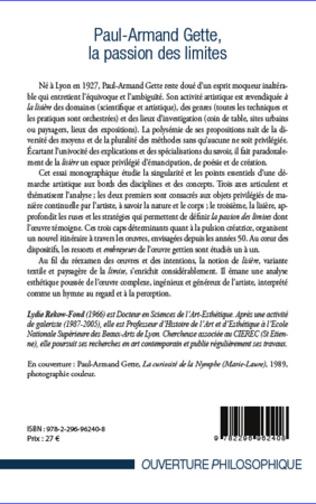 4eme Paul-Armand Gette, la passion des limites