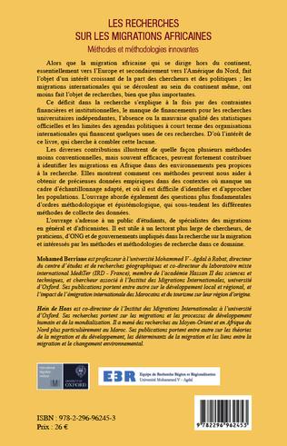 4eme Les recherches sur les migrations africaines