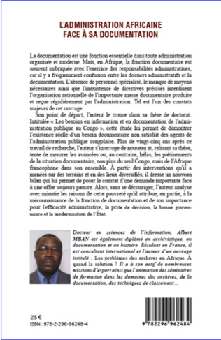 4eme L'administration africaine face à sa documentation
