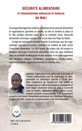 4eme Sécurité alimentaire et organisations agricoles et rurales au Mali