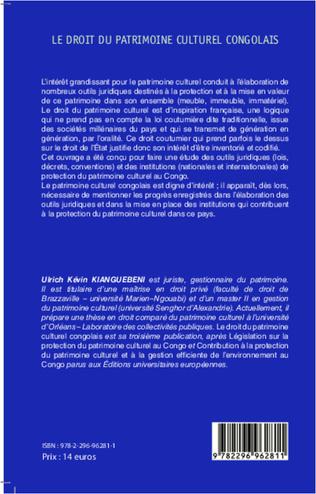 4eme Le droit du patrimoine culturel congolais