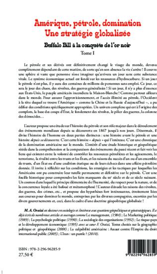 4eme Amérique, pétrole, domination : une stratégie globalisée (T.1)
