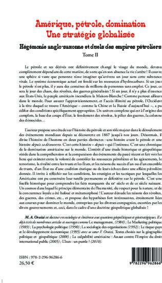 4eme Amérique, pétrole, domination : une stratégie globalisée (T.2)