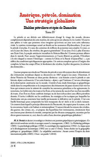 4eme Amérique, pétrole, domination : une stratégie globalisée (T.4)