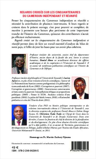 4eme Regards croisés sur les cinquantenaires du Cameroun indépendant et réunifié