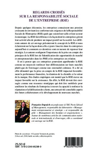 4eme Regards croisés sur la responsabilité sociale de l'entreprise (RSE)