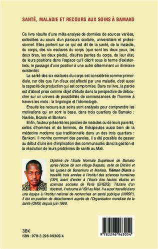 4eme Santé, maladie et recours aux soins à Bamako (Mali)