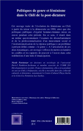 4eme Politiques de genre et féminisme dans le Chili de la post-dictature 1990-2010