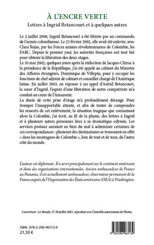 4eme A l'encre verte. Lettres à Ingrid Betancourt et à quelques autres