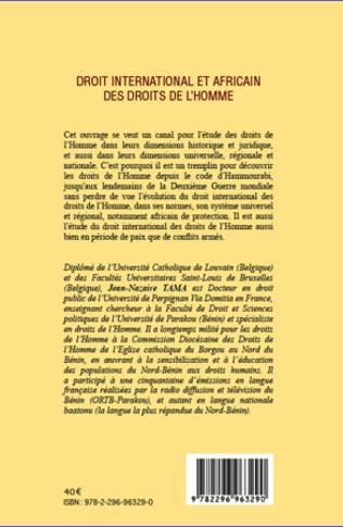 4eme Droit international et africain des droits de l'homme