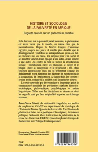 4eme Histoire et sociologie de la pauvreté en Afrique