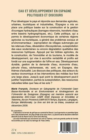 4eme Eau et développement en Espagne