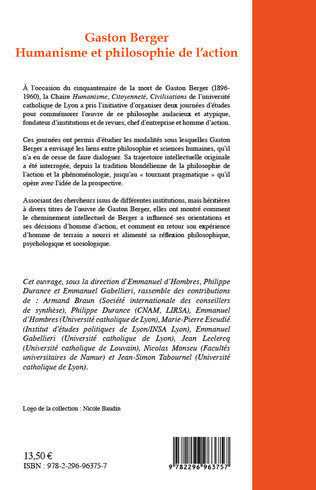 4eme Gaston Berger Humanisme et philosophie de l'action