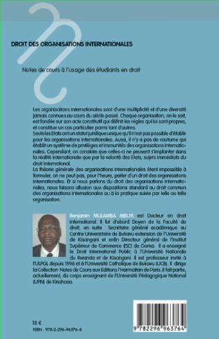 4eme Droit des organisations internationales