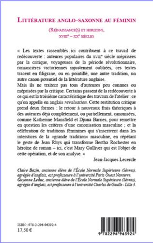 4eme Littérature anglo-saxonne au féminin