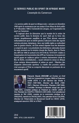 4eme Le service public du sport en Afrique noire