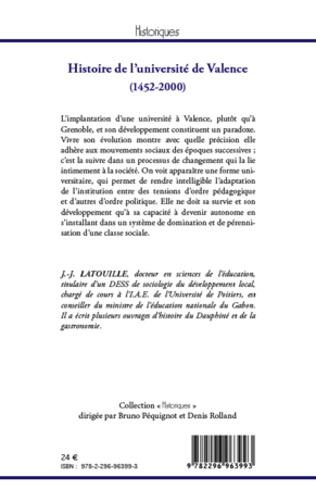 4eme Histoire de l'université de Valence (1452-2000)