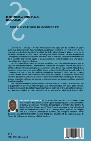 4eme Droit international public : les sources