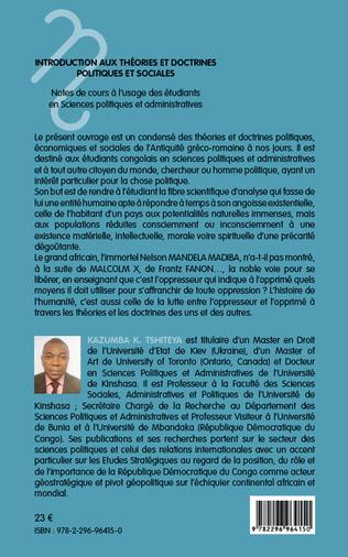 4eme Introduction aux théories et doctrines politiques et sociales