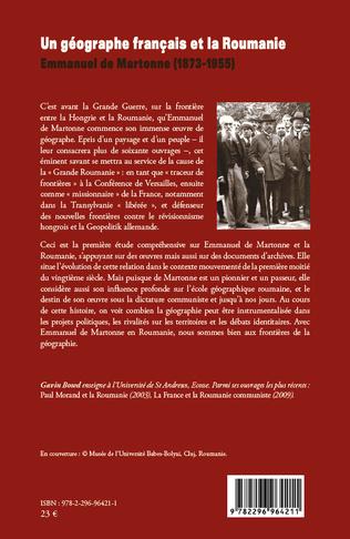 4eme Un géographe français et la Roumanie : Emmanuel de Martonne (1873-1955)