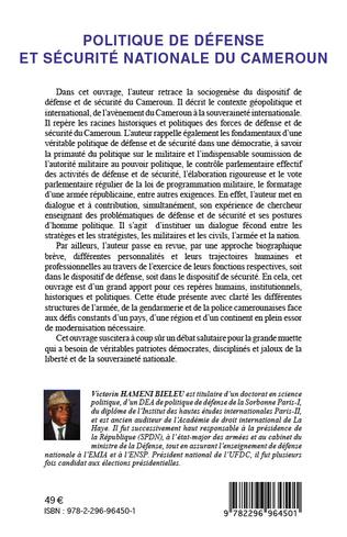 4eme Politique de défense et sécurité nationale du Cameroun