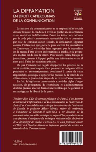 4eme La diffamation en droit camerounais de la communication