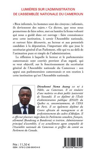 4eme Lumières sur l'administration de l'Assemblée nationale du Cameroun