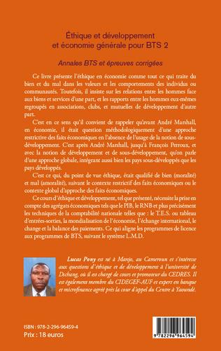 4eme Ethique et développement et économie générale pour BTS 2