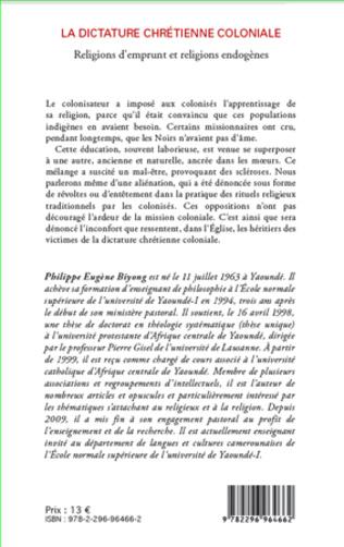 4eme La dictature chrétienne coloniale