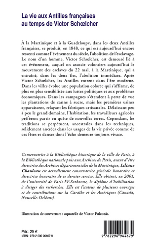 4eme La vie aux Antilles françaises au temps de Victor Schoelcher