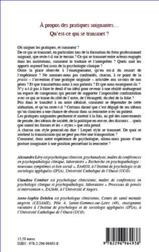 4eme A propos des pratiques soignantes...