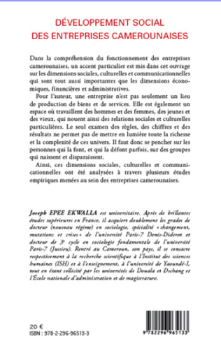 4eme Développement social des entreprises camerounaises
