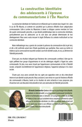 4eme La construction identitaire des adolescents à l'épreuve du communautarisme à l'Ile Maurice