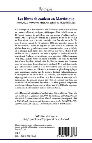 4eme Les libres de couleur en Martinique (Tome 3)