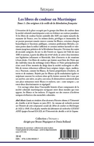 4eme Les libres de couleur en Martinique (Tome 1)