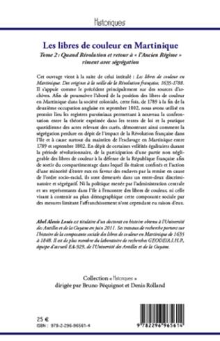 4eme Les libres de couleur en Martinique (Tome 2)