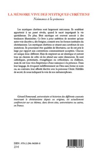 4eme La mémoire vive des mystiques chrétiens