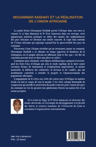 4eme Mouammar Hadhafi et la réalisation de l'Union Africaine