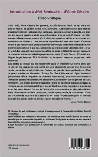 4eme Introduction à Moi, laminaire... d'Aimé Césaire